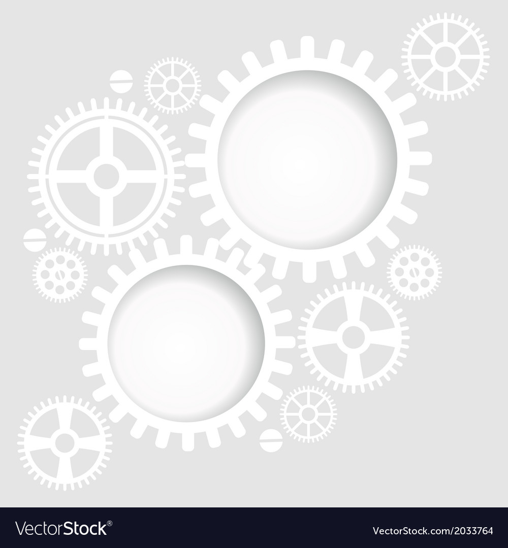 Gear and cogwheel background vector image
