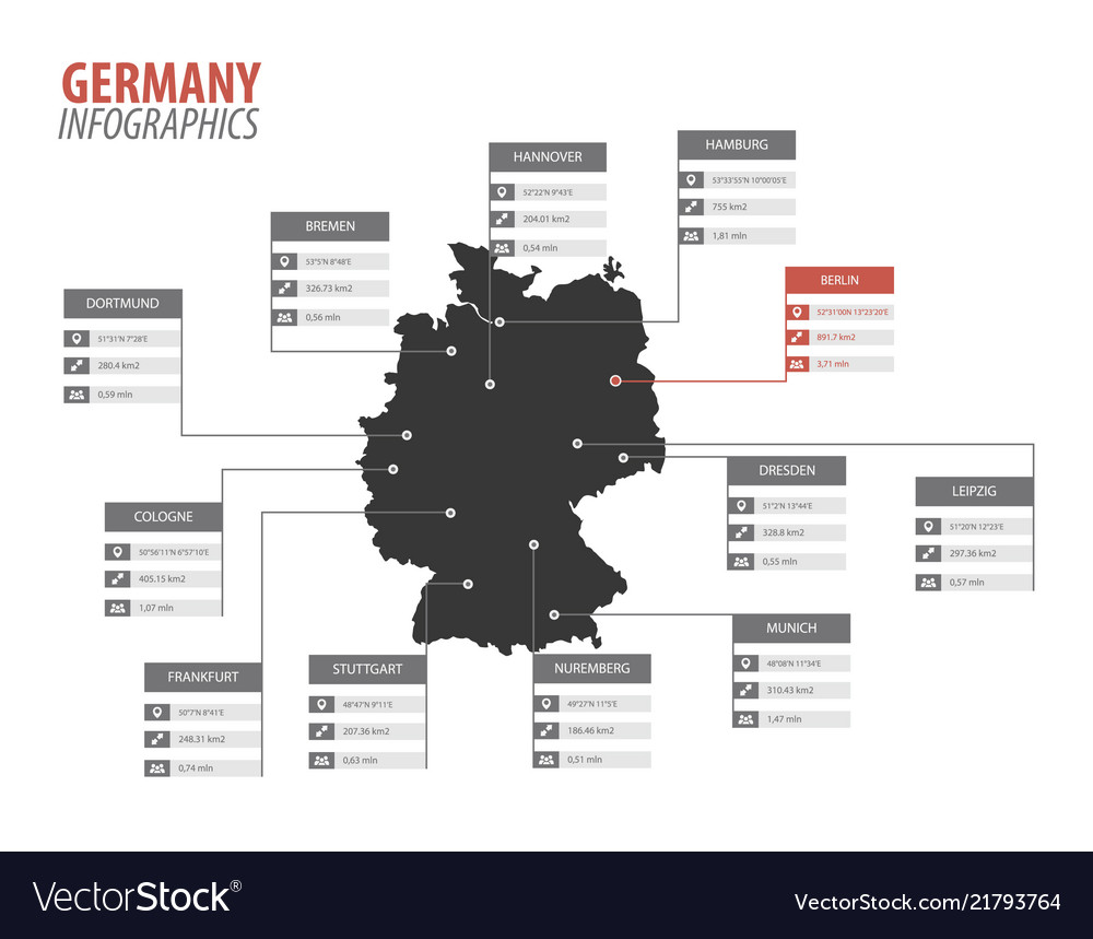 Germany map shape infographics