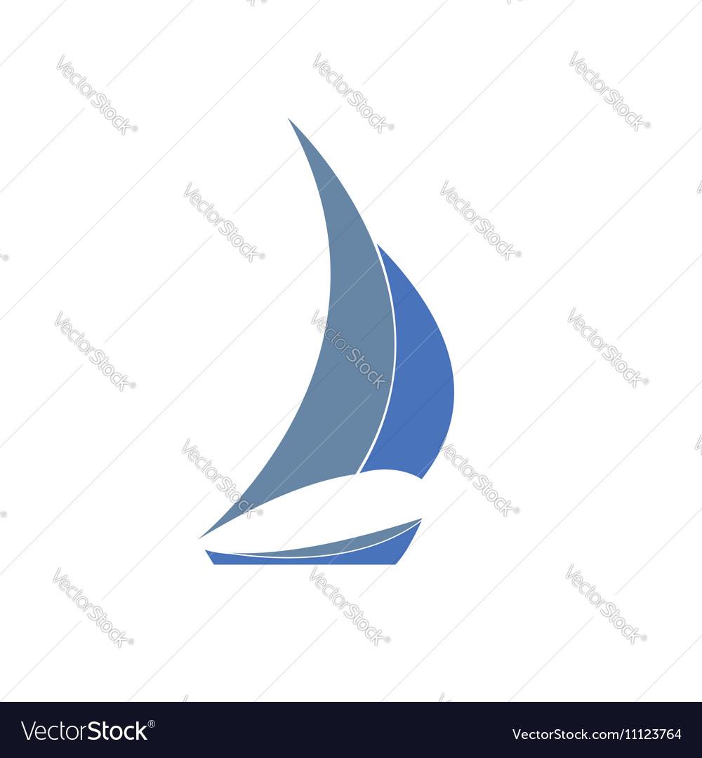 grayblue yacht logo for sailing royalty free vector image