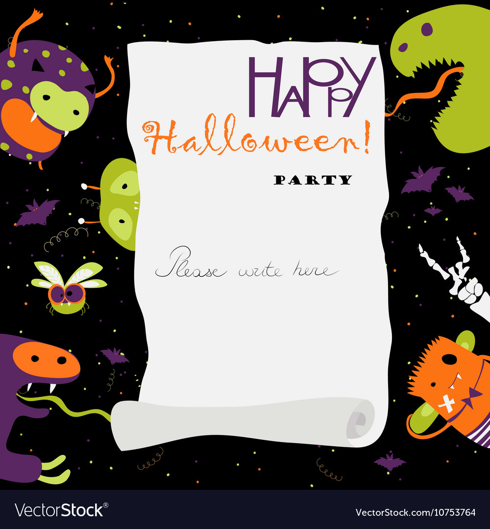 Halloween banner with monsters vector image