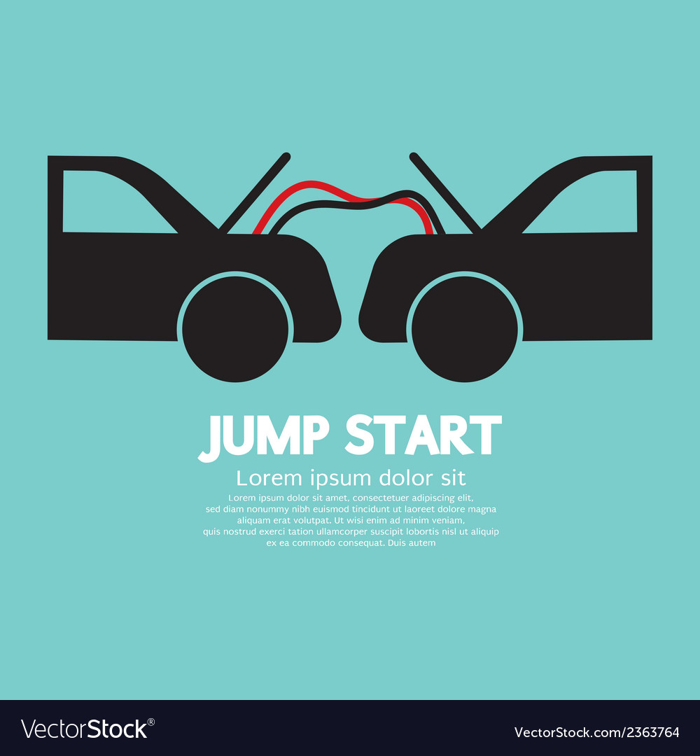 Jump Start Royalty Free Vector Image Vectorstock