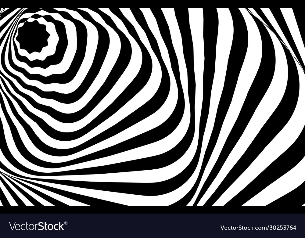 Optical illusion white black pattern abstract