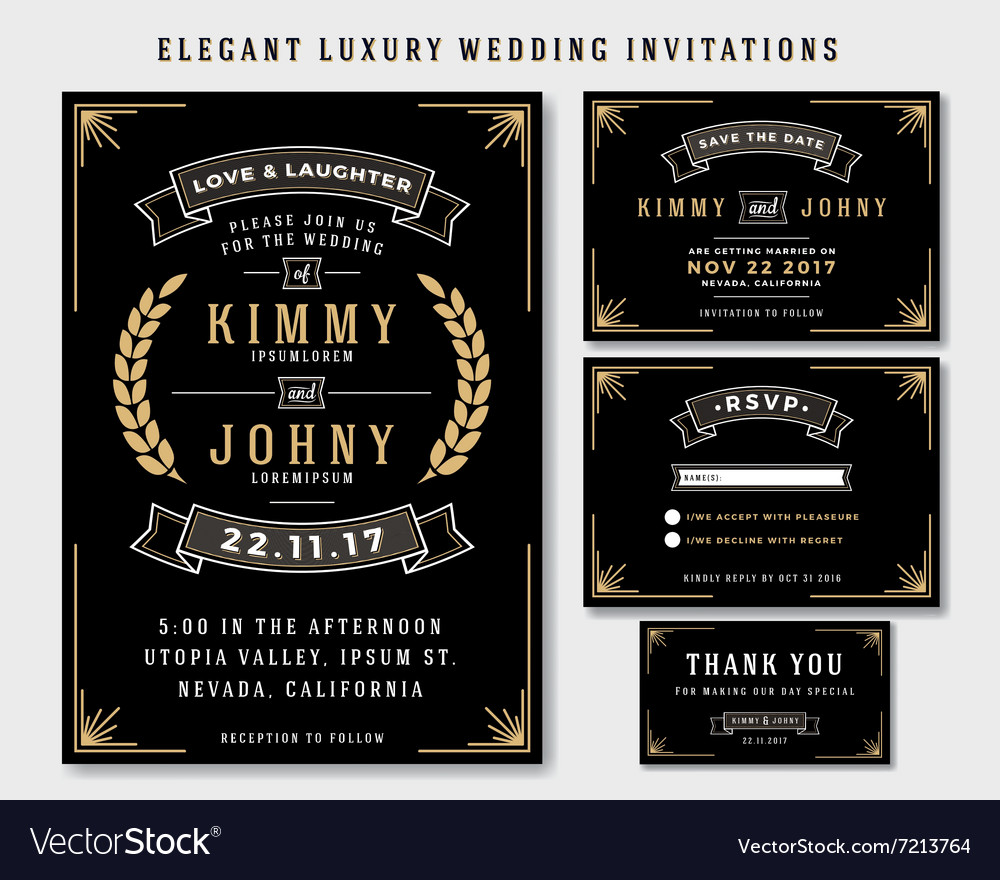 Unique Luxury Wedding Invitations Template