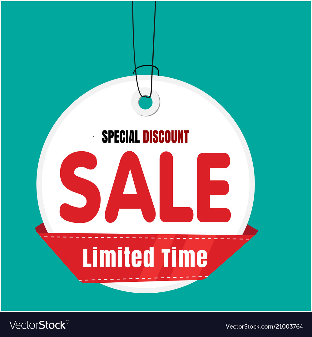 ca3710e80 White tag sale sale limited time special discount Vector Image