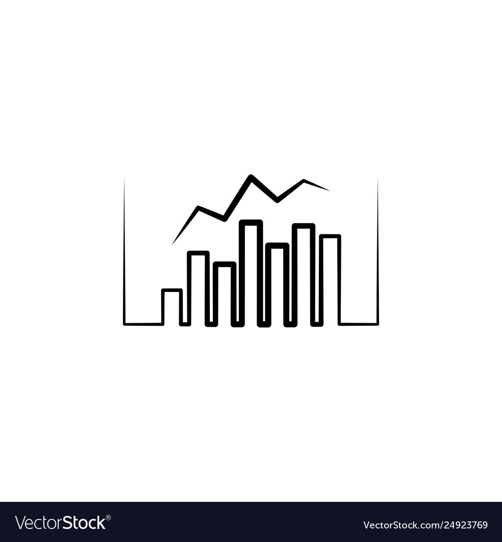 Business chart logo statistic icon design element
