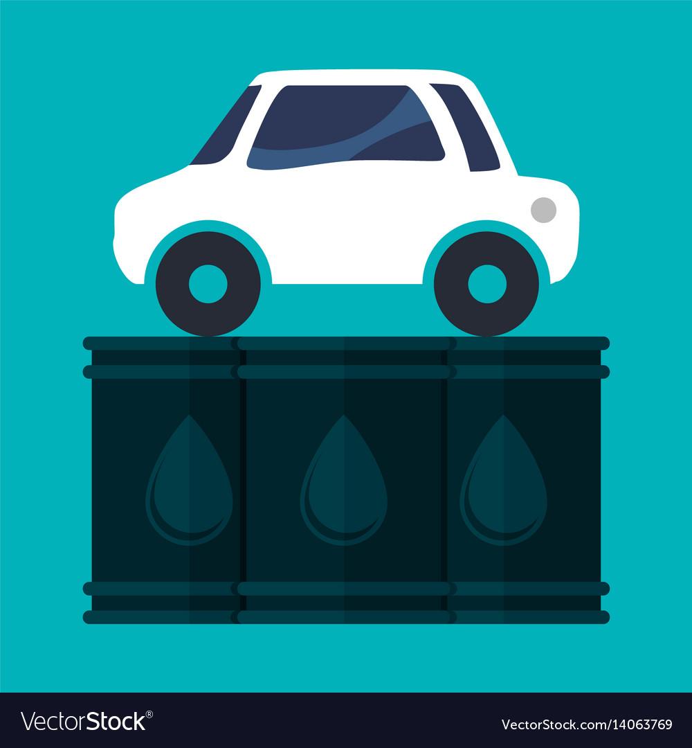 Car vehicle oil barrel vector image