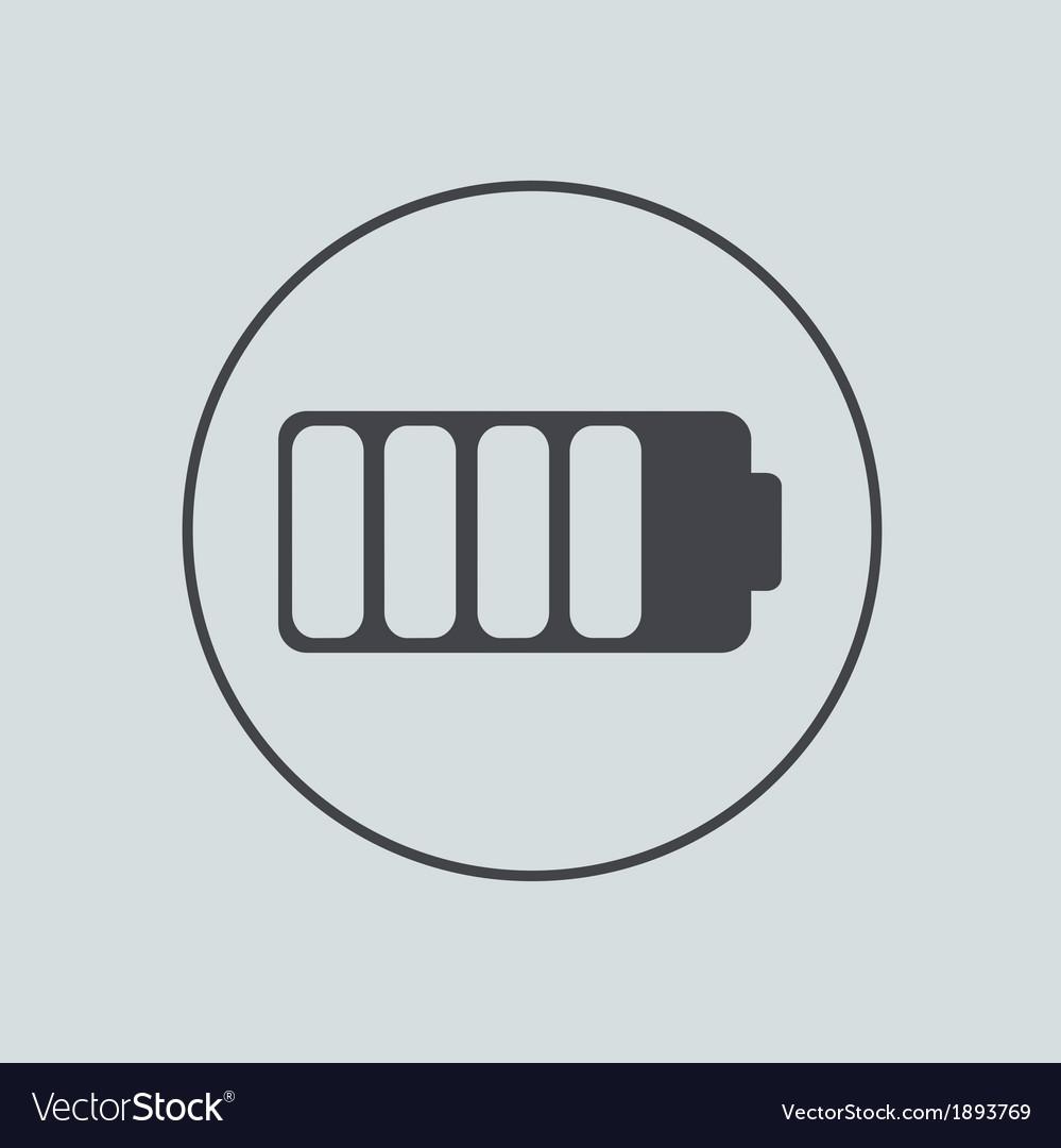 Circle icon on gray background Eps 10