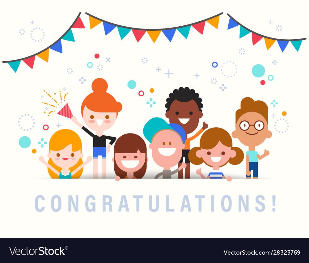 Congratulations cute celebration banner