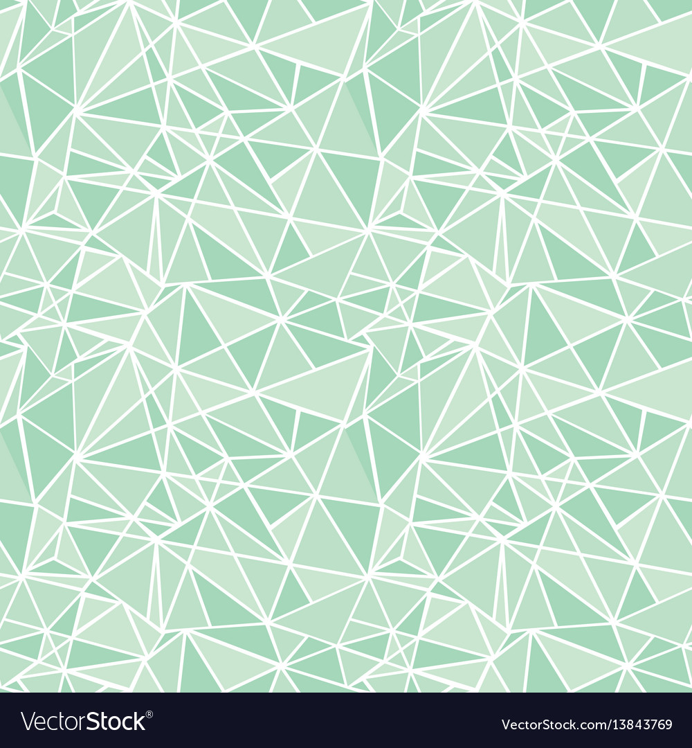Mint green geometric mosaic triangles