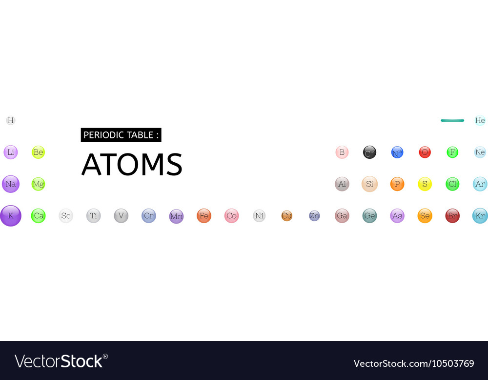 Periodic table atoms set royalty free vector image periodic table atoms set vector image urtaz Image collections