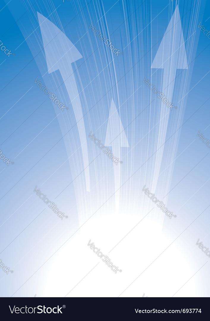 Arrows on blue