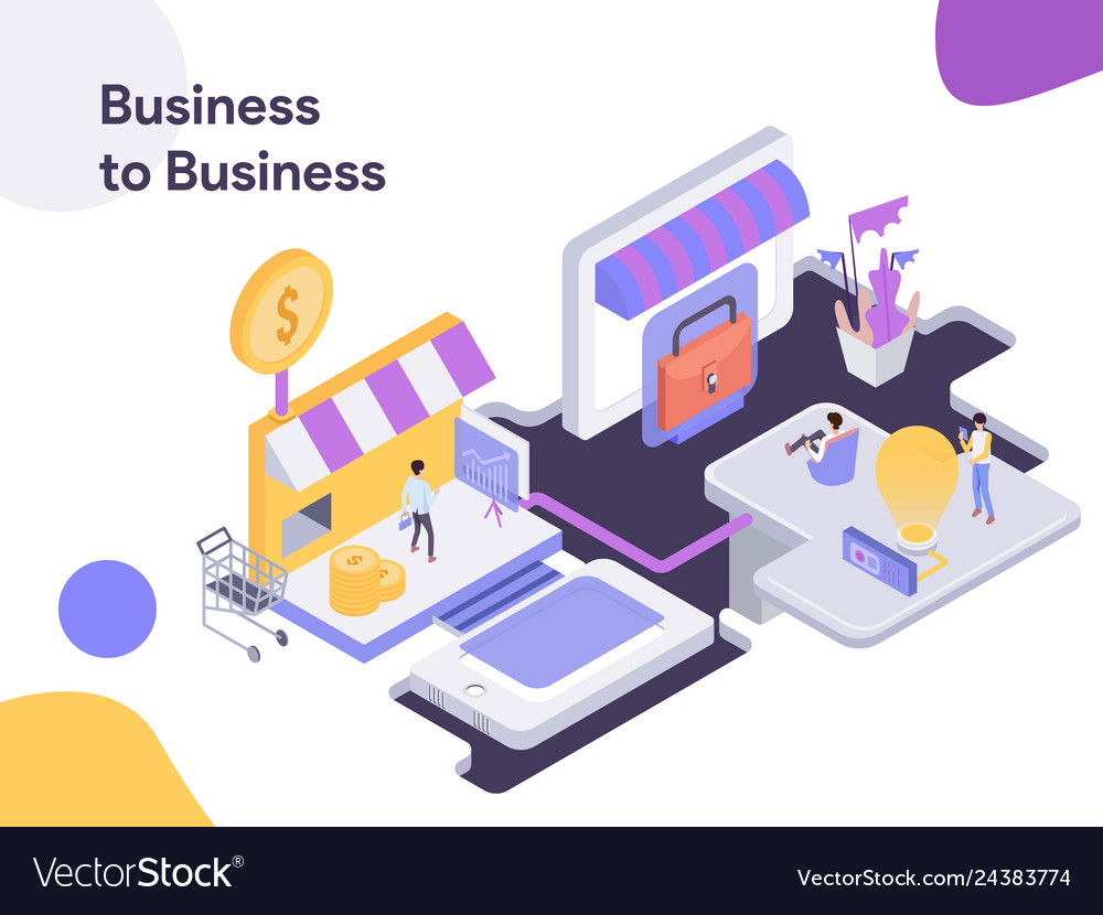 Business to modern flat design style