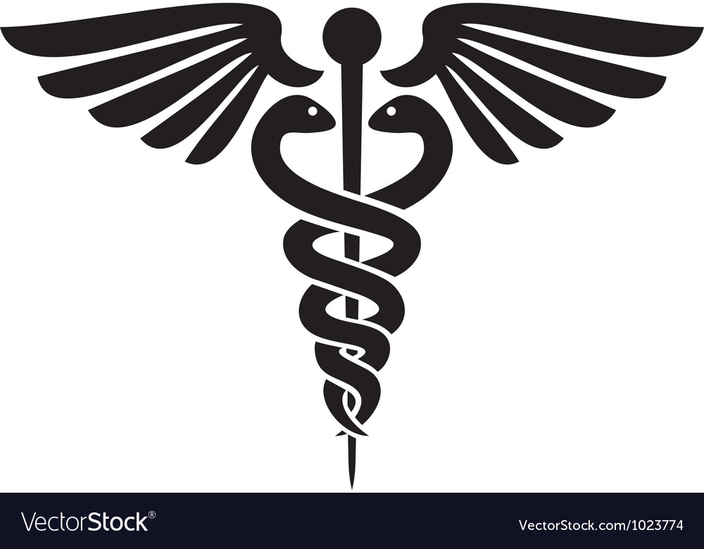 caduceus medical symbol royalty free vector image