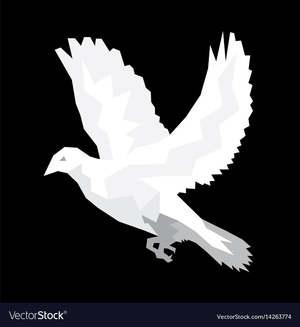 Dove holy spirit vector image