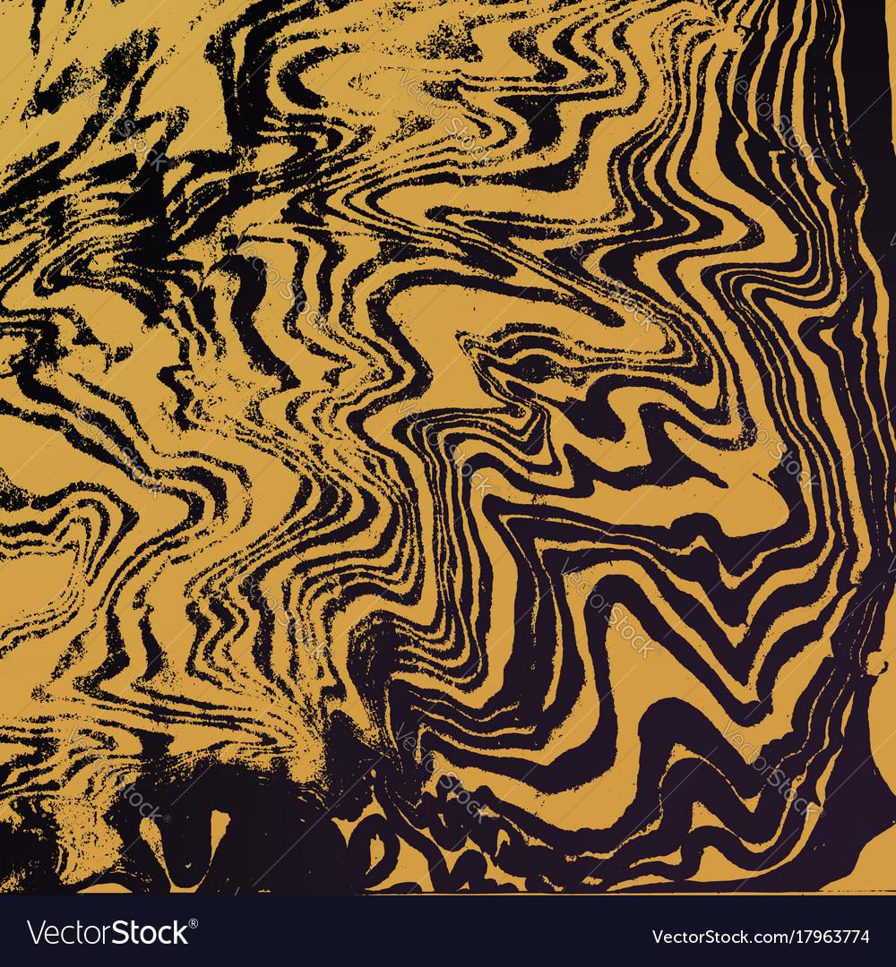 Gold suminagashi abstract background