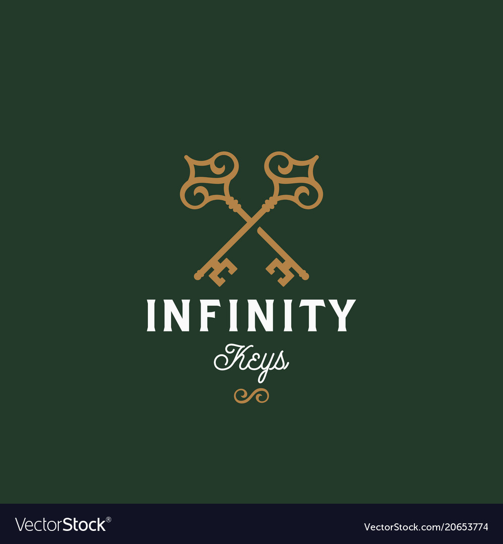 Infinity keys abstract sign symbol or