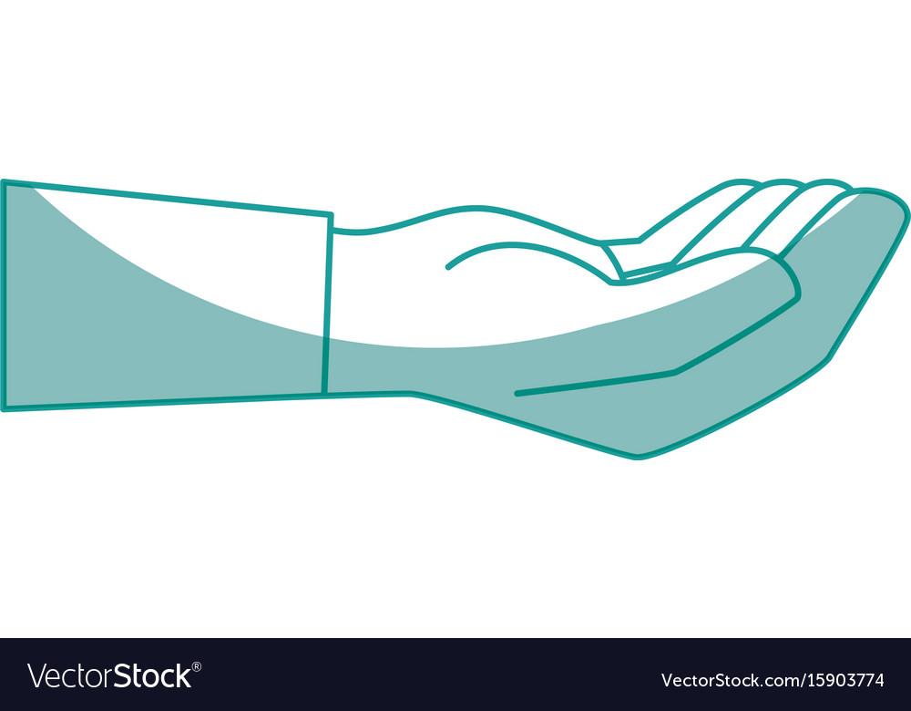 Isolated cute human hand