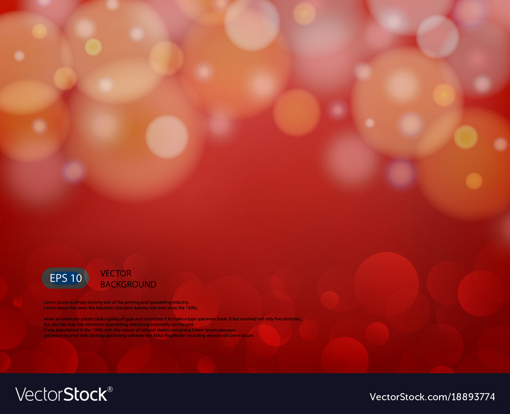 Red blur abstract background with light in modern