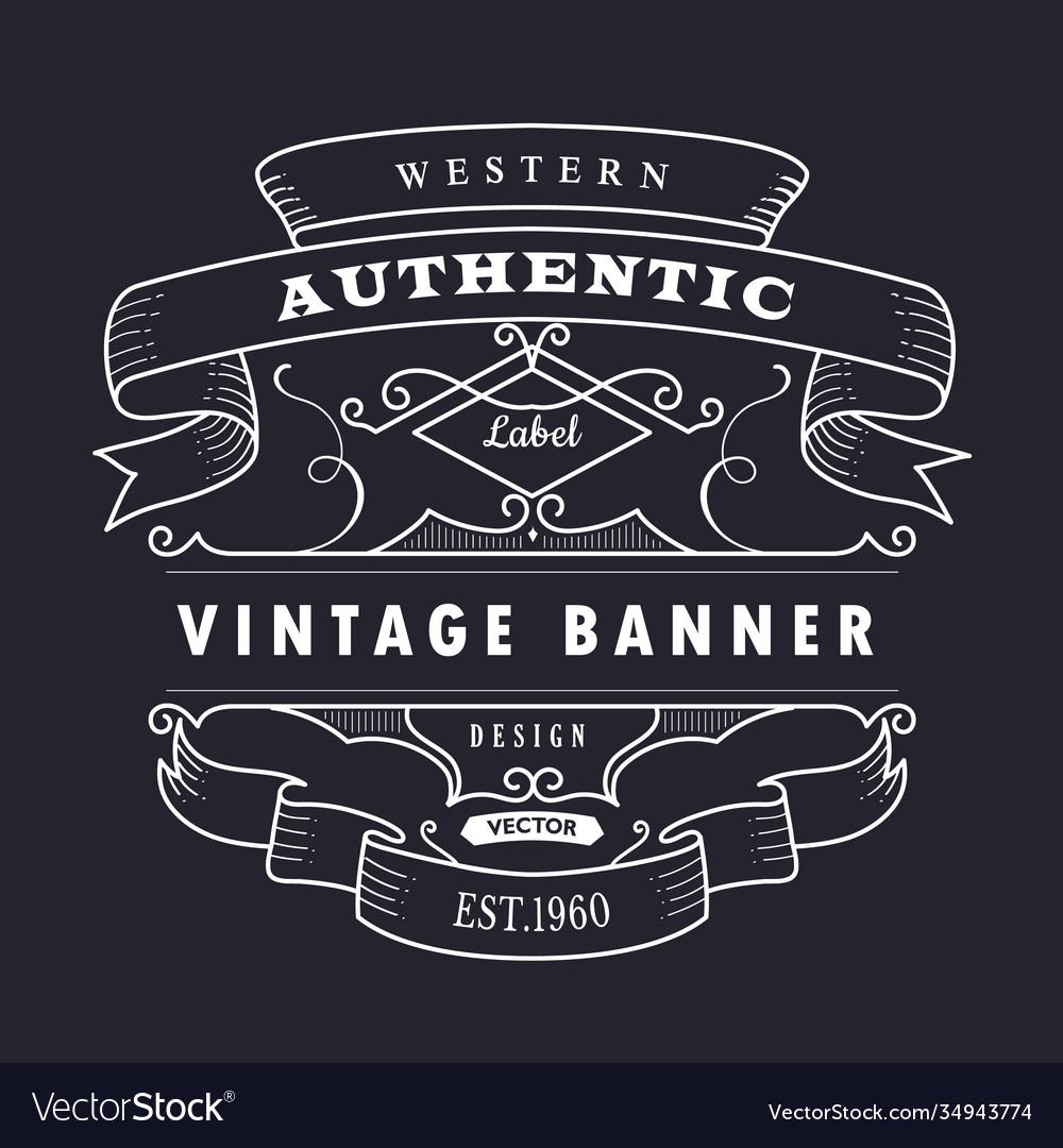 Vintage banner hand drawn retro design