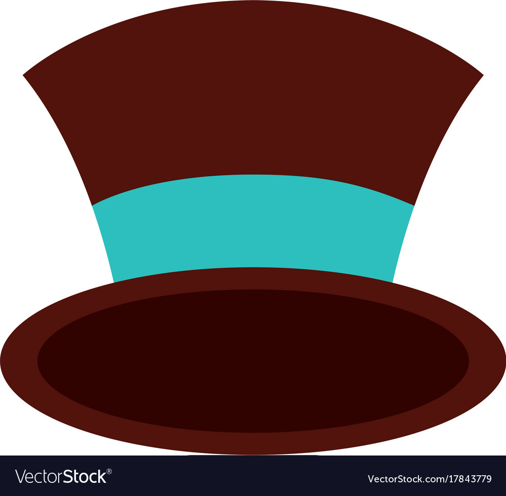 christmas top hat of snowman accessory vector image