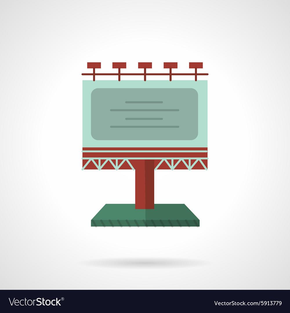 Colored billboard flat icon vector image