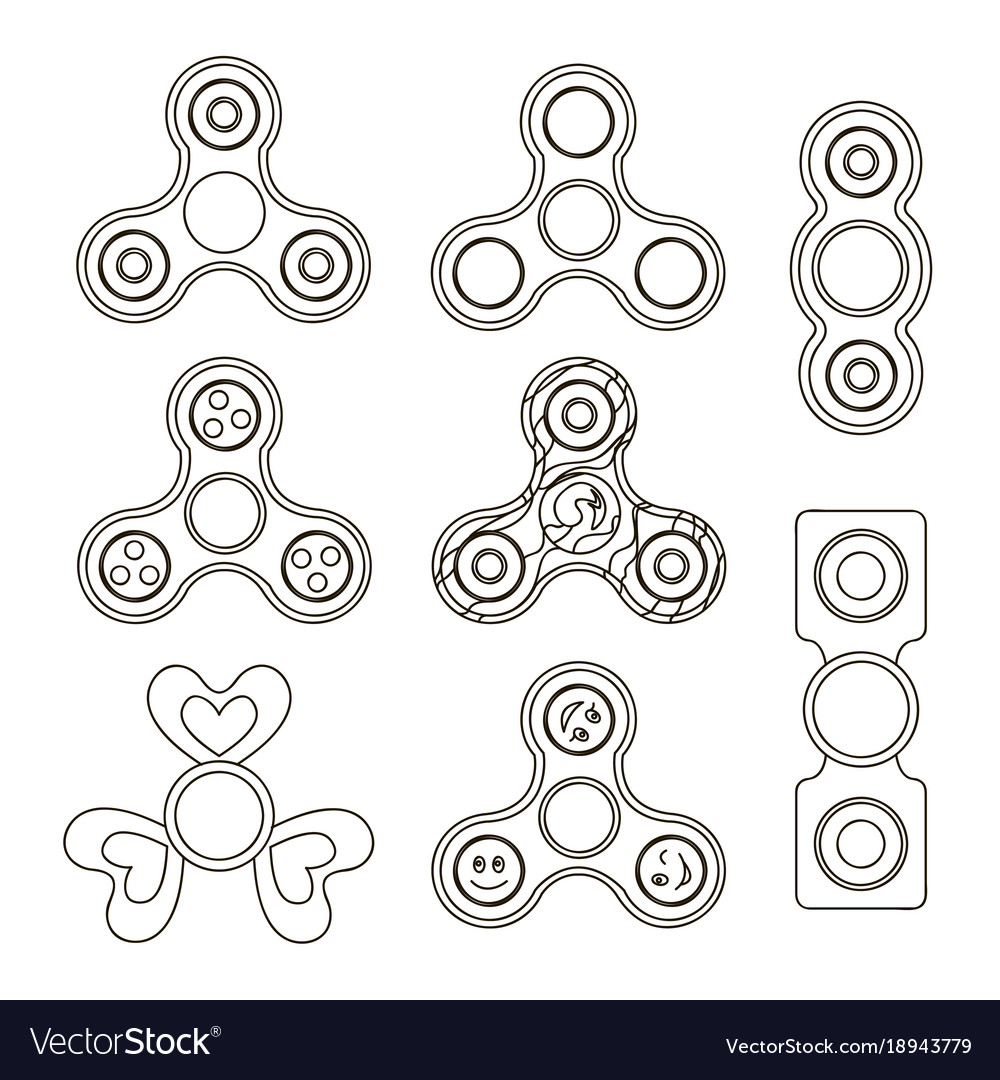 Fidget finger spinner set