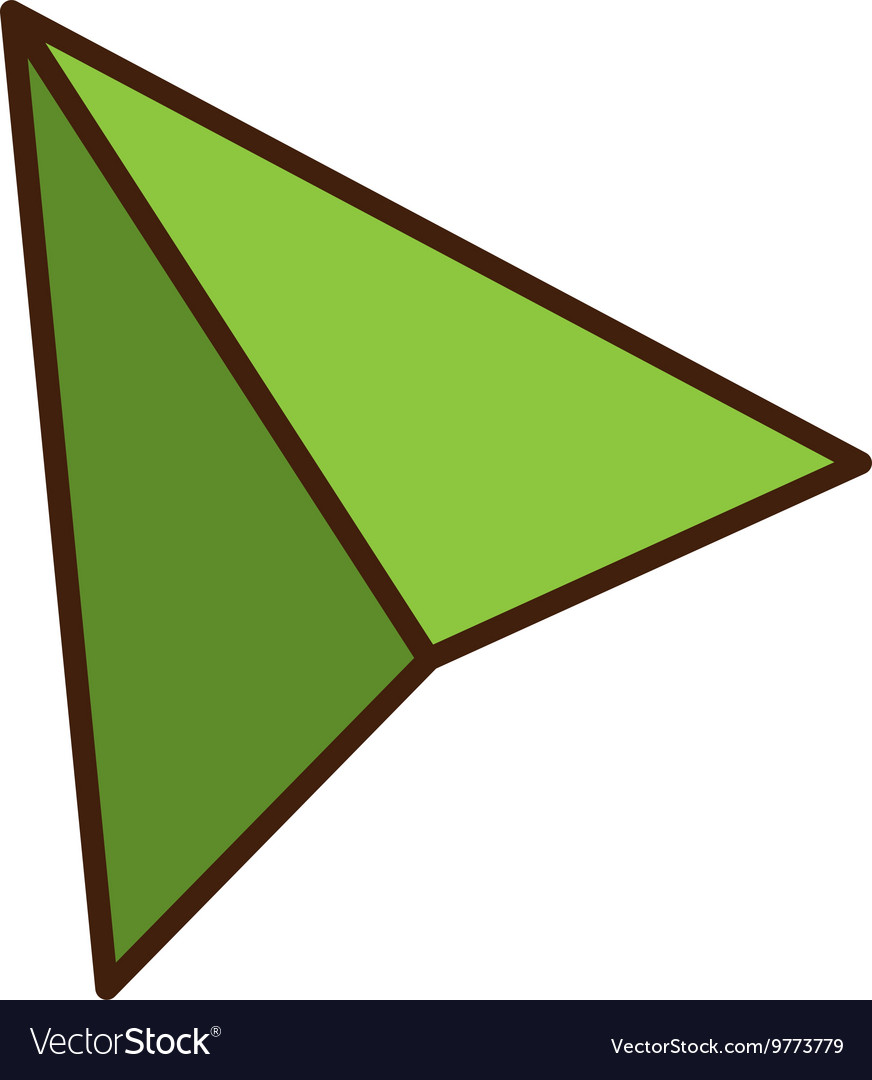 Green paper plane isolated flat icon