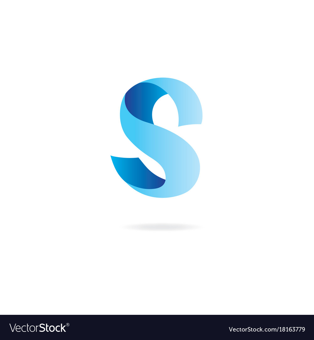 letter s logo design template elements curved vector image