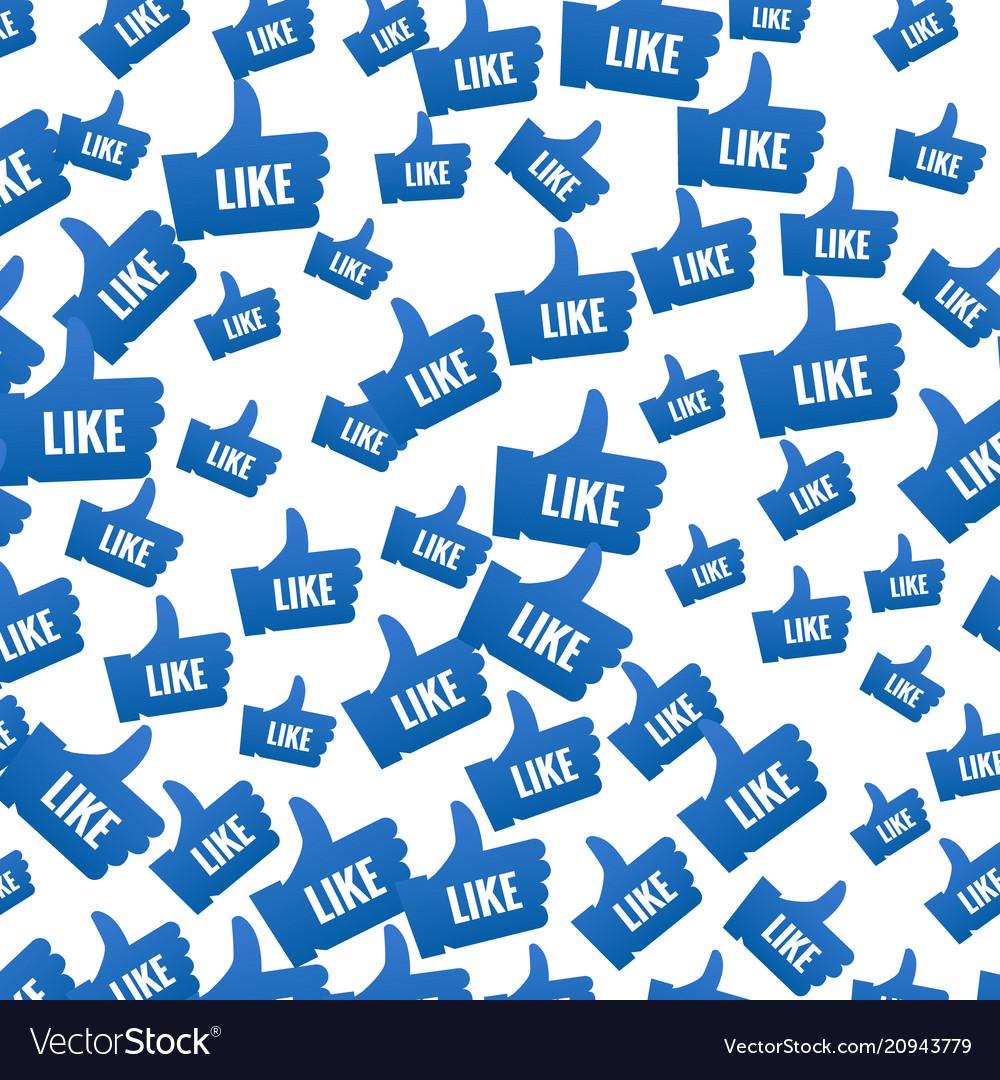 Like symbol pattern background thumb up like icon