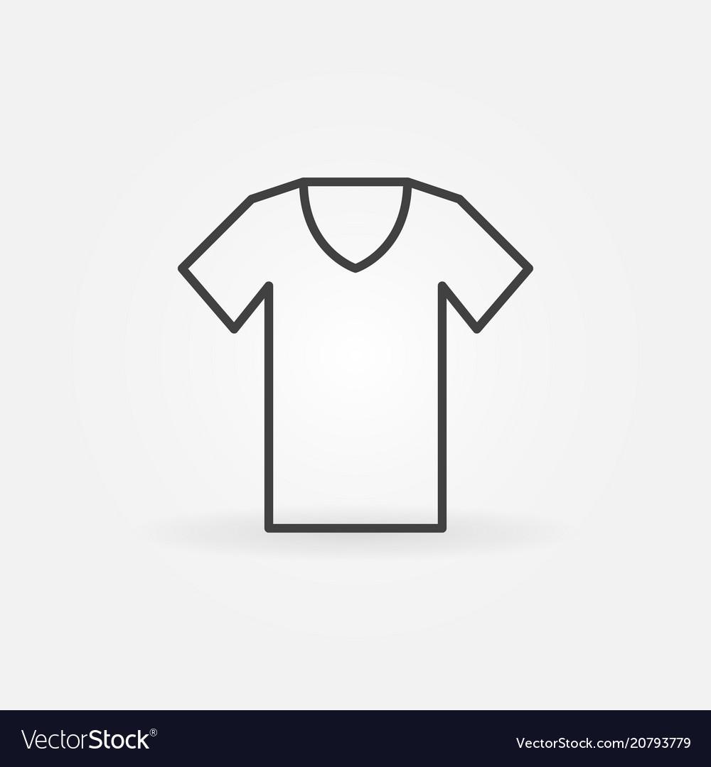 T-shirt outline icon tshirt symbol