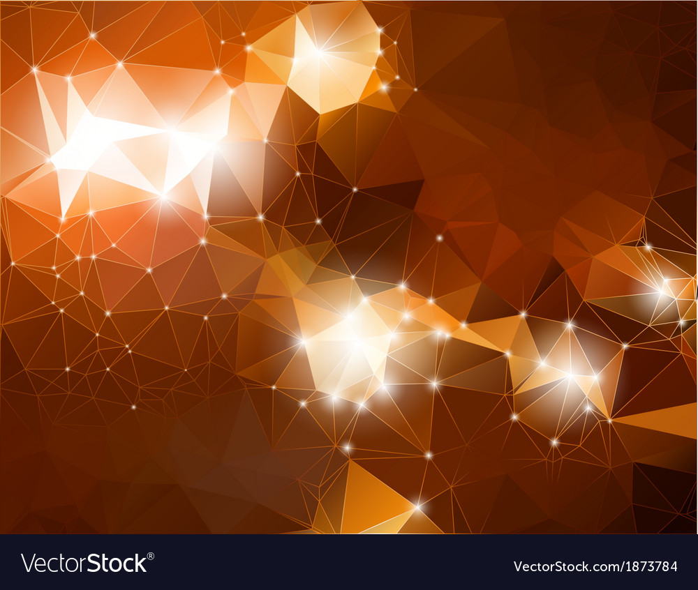 Abstract brown shiny polygon background Royalty Free Vector