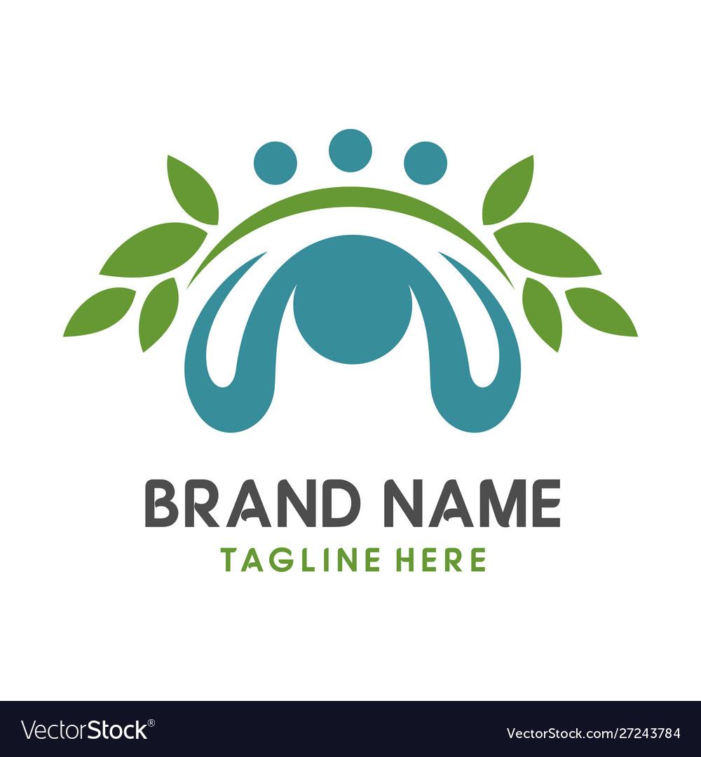 Initial leaf logo m