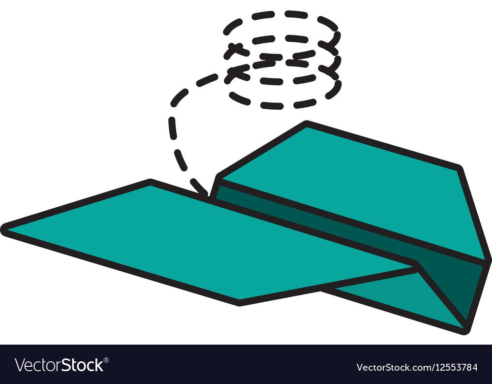 Paper plane project innovation line dotted vector image