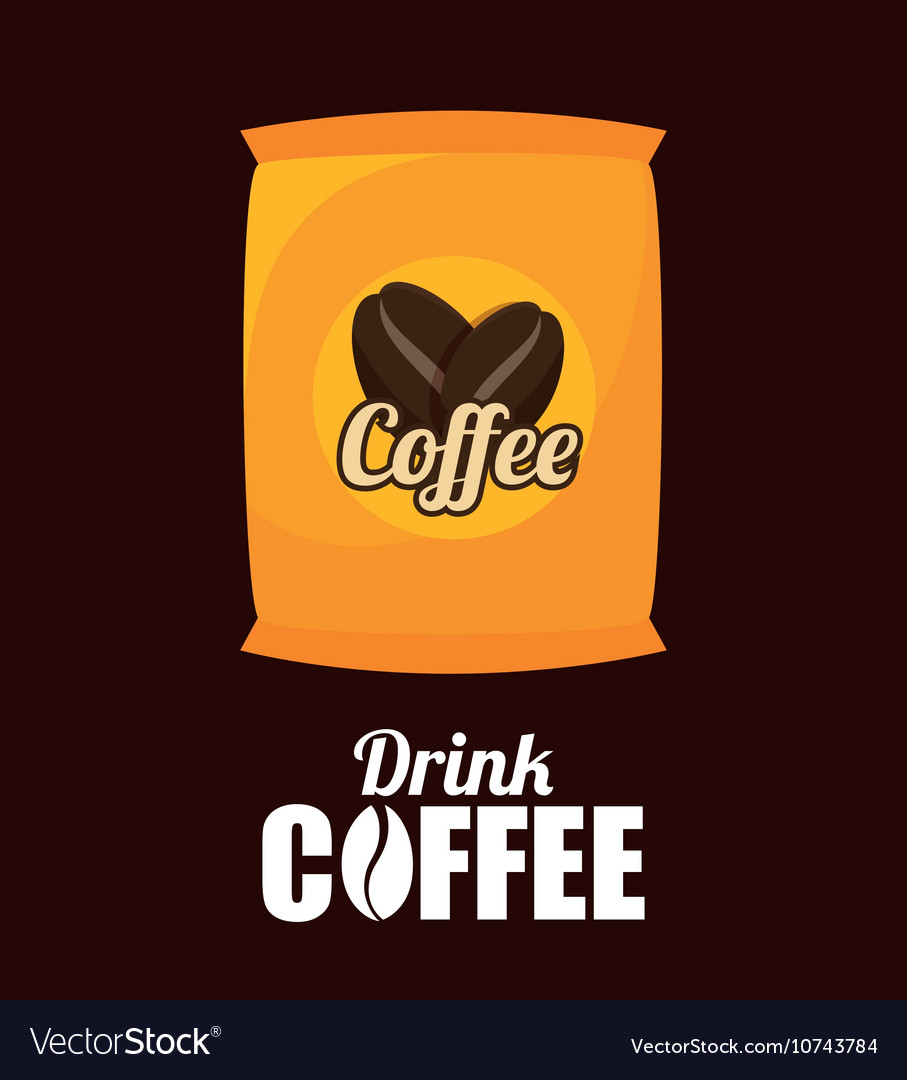Sack Coffee Bean Graphic Royalty Free Vector Image