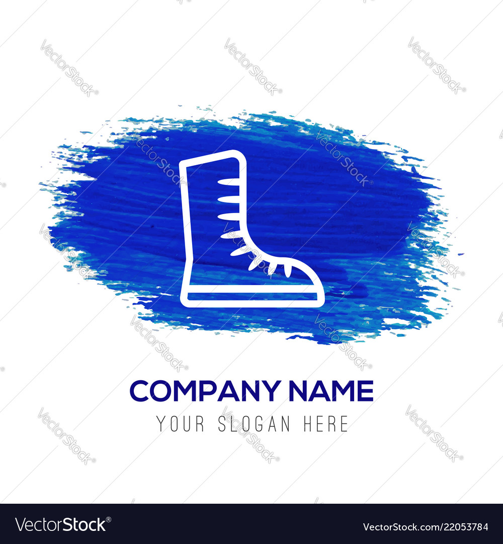 Skating shoe icon - blue watercolor background