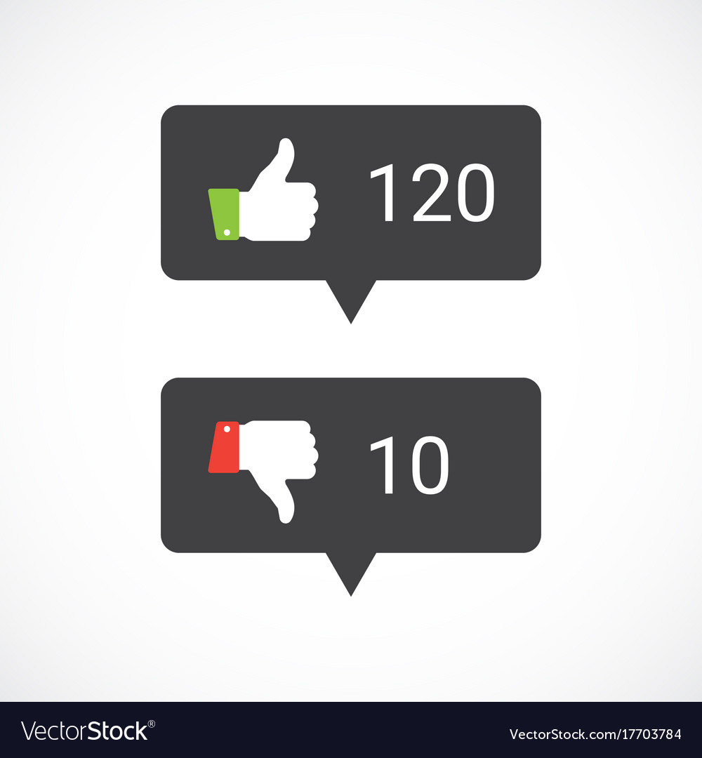 thums up and thumbs down icons royalty free vector image