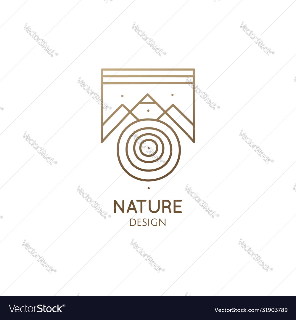 Abstract nature logo geometric elements square