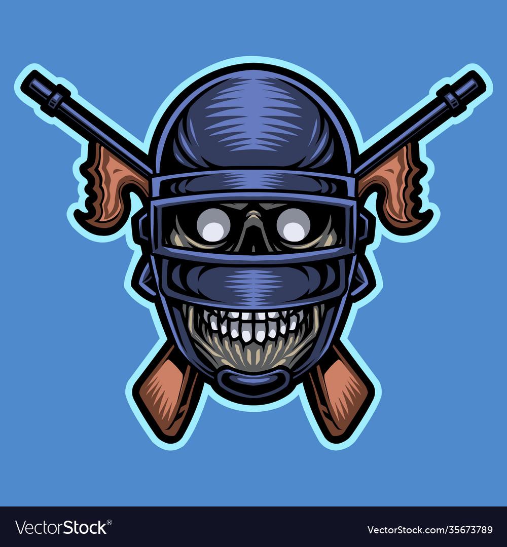 Army skull head mascot logo