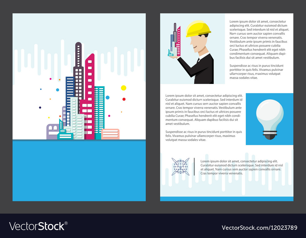 building office brochure template royalty free vector image