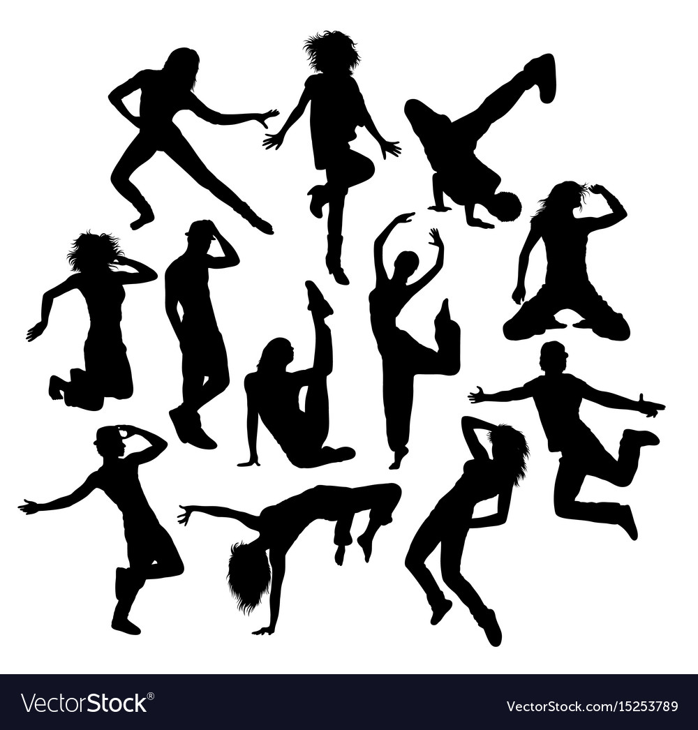Cool dance silhouettes