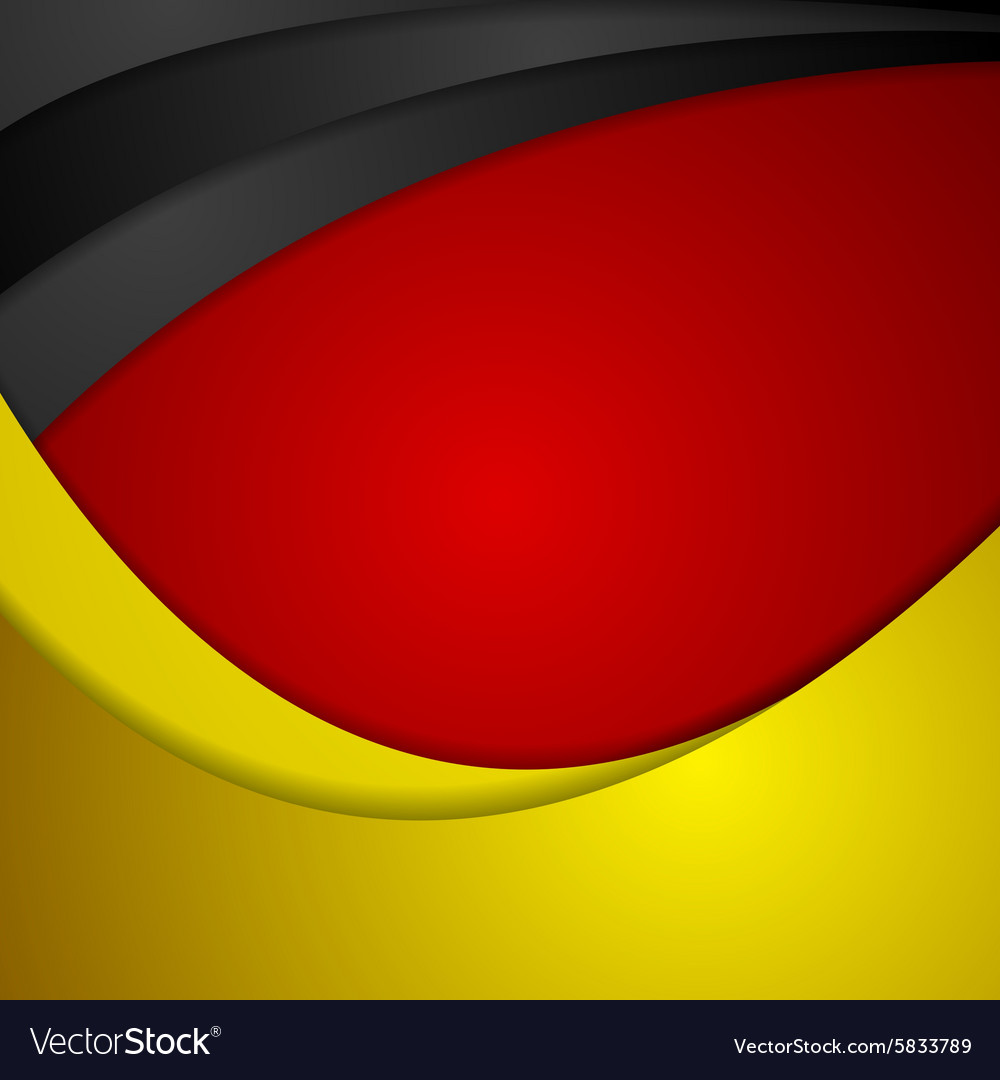 Corporate wavy bright abstract background German vector image