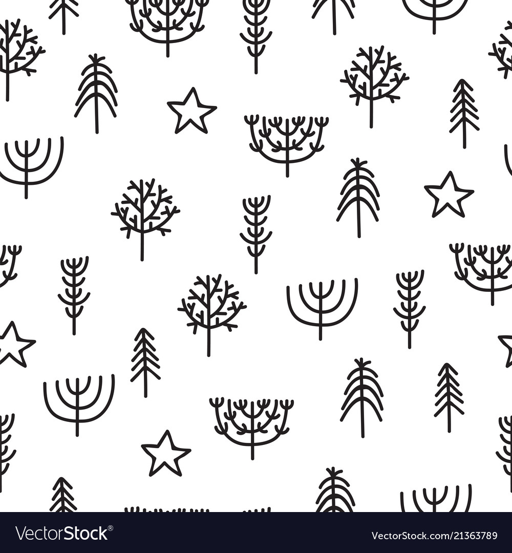 Cute tribal seamless pattern with hand drawn
