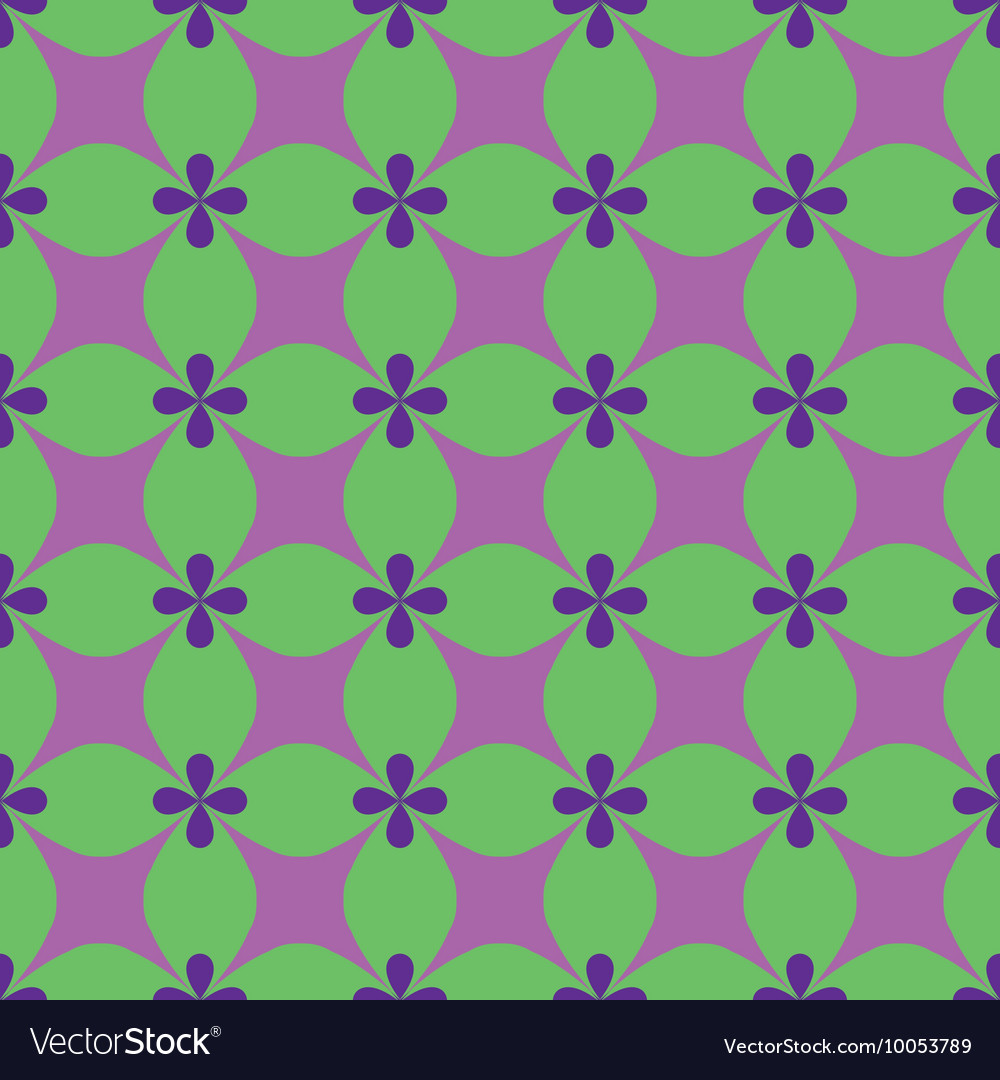 Flower and rhombus seamless pattern