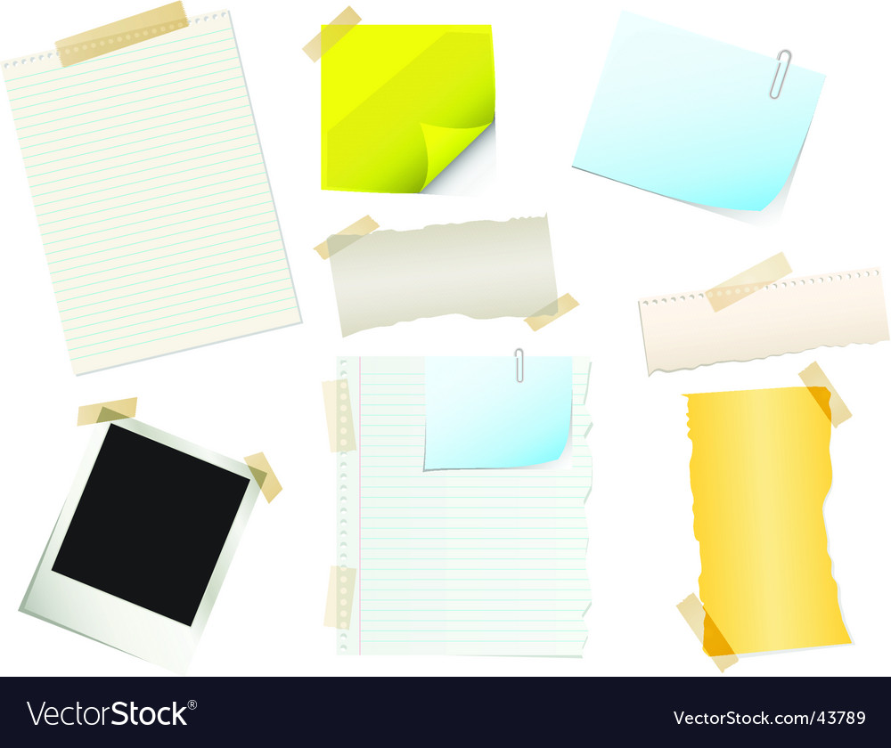 Papers and stickers vector image