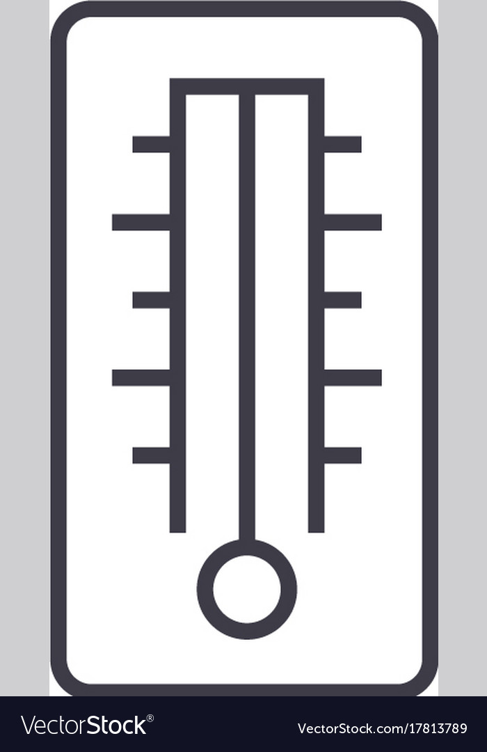 Thermometer line icon sign