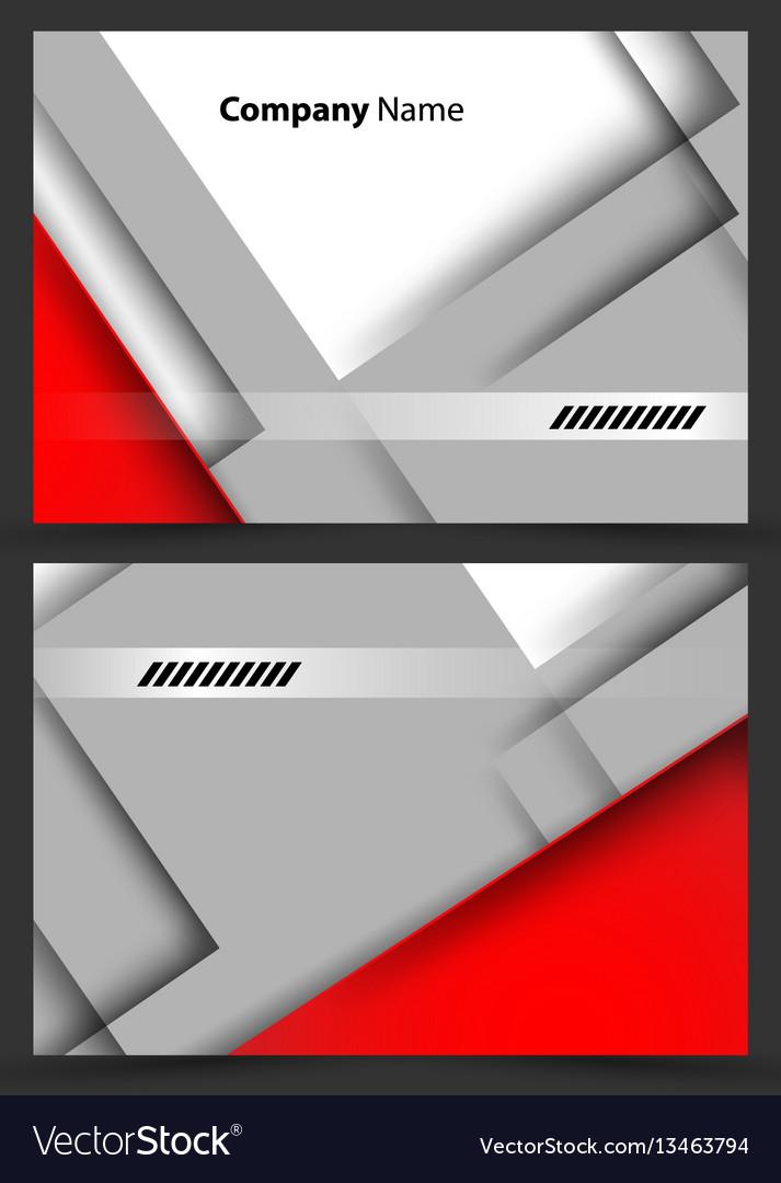 Corporate cards templates