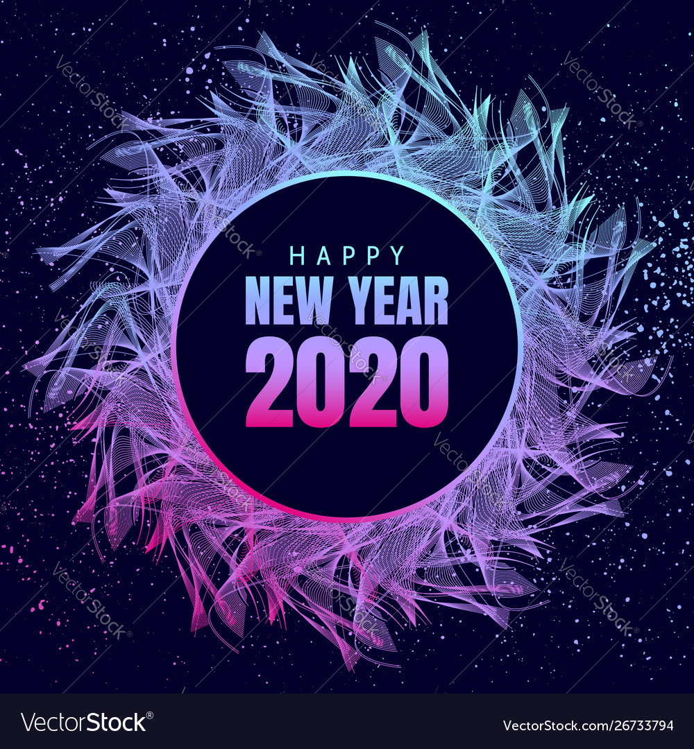 happy new year poster 2020