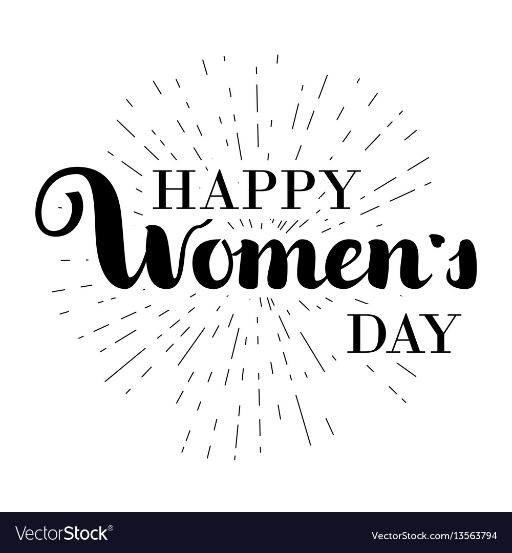 Happy woman s day gift card march 8 hand written