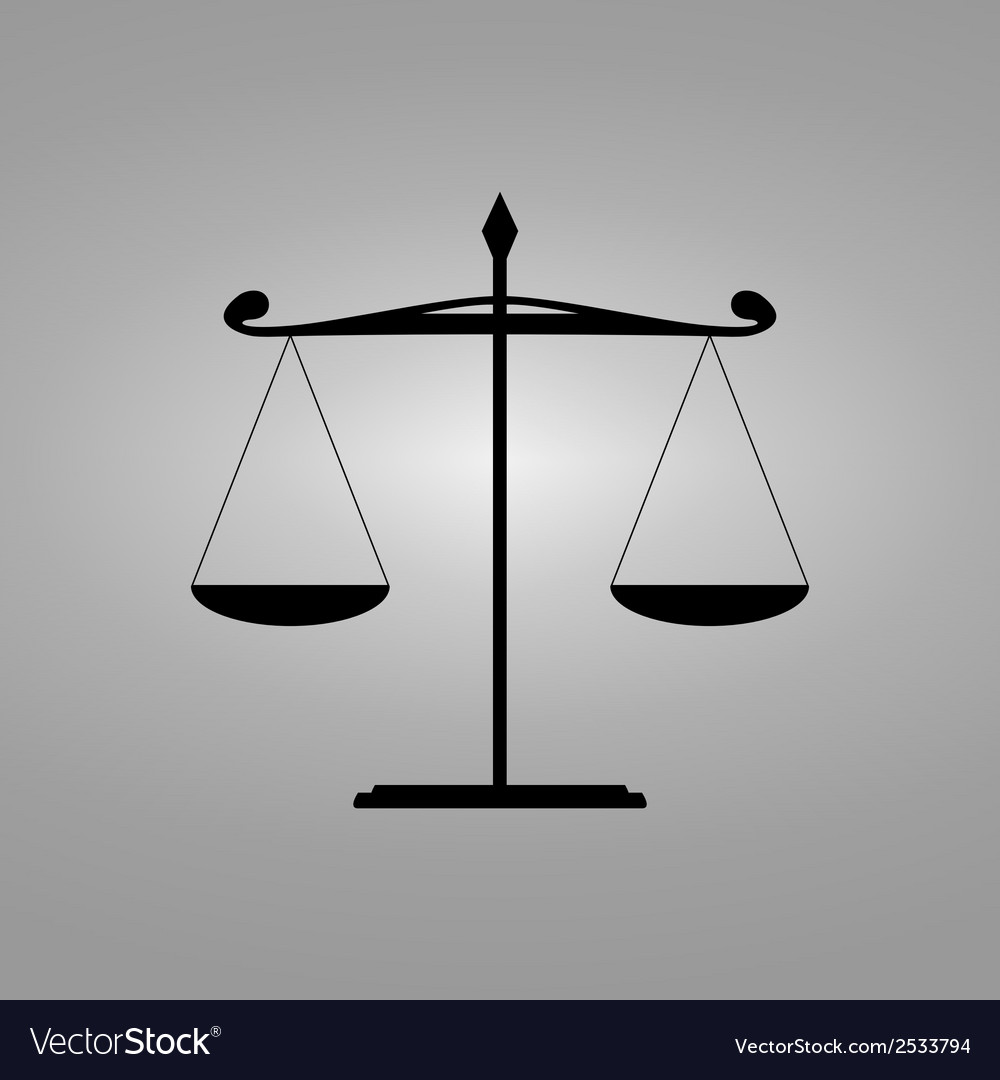 Scales of balance - icon vector image