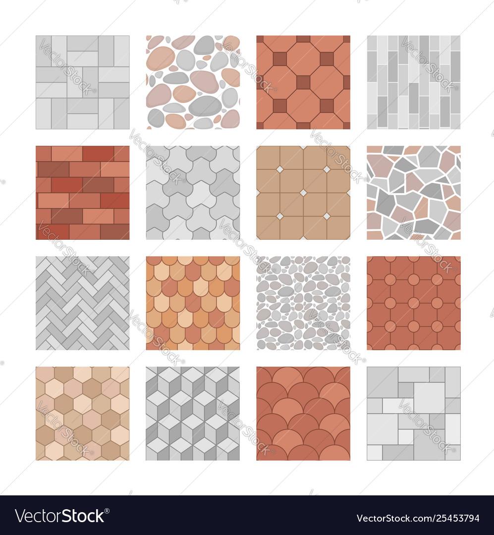 Seamless Paving Stone And Brick Pattern